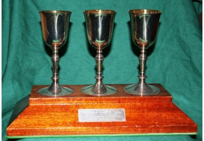 Three Wine Goblets