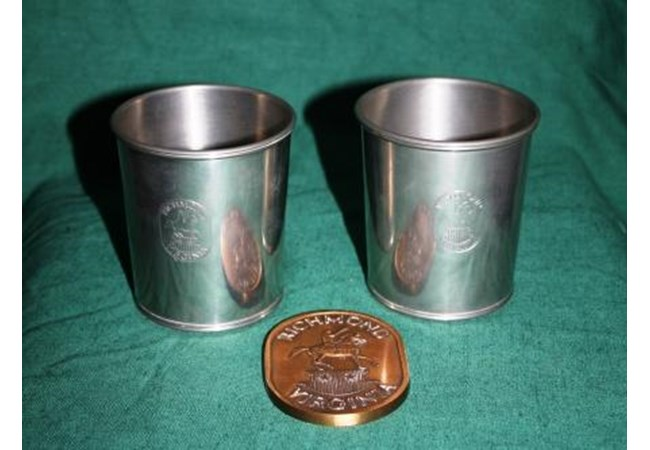 Replica of the Seal of Richmond, Virginia and Two Mint Julep Cups