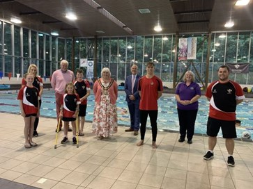 The Mayor visited Richmond Dales Amateur Swimming Club, 13 August 2020