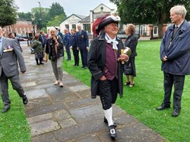 Town Crier at VJ Day 75 Commemoration